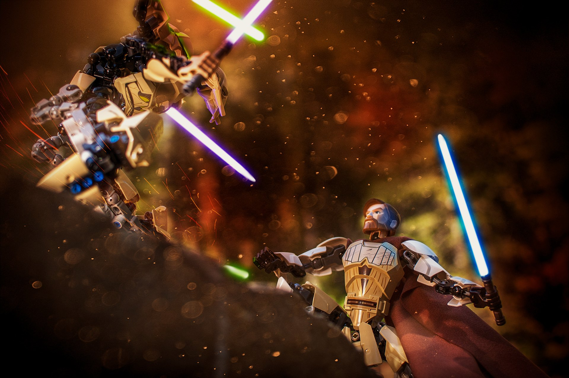 General Grievous Vs Obi Wan Bricksdaily